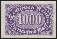 DR 1923, MiNr. 255 U, sauber ungebraucht, Mi. 50,-