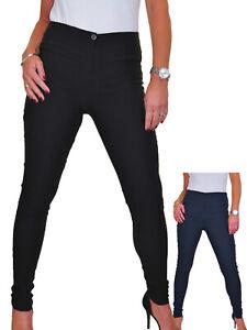 Ladies Tight Skinny High Rise Office Work School Trousers 4-18