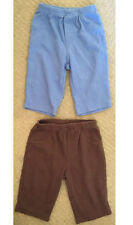 Carter's 6M Baby Boys Blue Brown 2pc Soft Comfy Pants Lot 6 Months