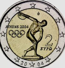 Greece Coin 2€ Euro 2004 Comm. Athens Olympics Disc Thrower New UNC from Roll