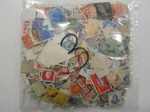 Discount Stamps : WORLDWIDE 1000+ ASS0RTMENT MOSTLY DIFFERENT USED/OFF PAPER#003