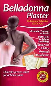 Belladonna Plaster |Tension Strain Stiff Neck Back Ache Sciatica | Multi Listing