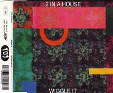 "2 IN A HOUSE ""Wiggle It"" (Austrian CD-Single 1991) 3-Tracks **GREAT SHAPE** OOP"