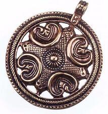 tolles massives großes Wikinger Amulett aus Bronze 4 Elemente Anhänger Rus 503