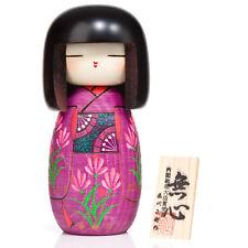 Chica en Violeta Kimono grandes Kokeshi Muñeca