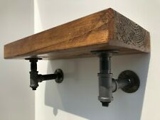 Industrial Style With Black Metal Brackets | Wood Shelf | Shelving | Shelves
