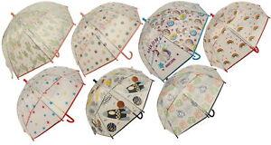 Atino Childrens Clear Umbrella with Fun Designs