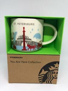 Starbucks You Are Here Collection St.Petersburg Céramique Café Tasse Neuf À Box