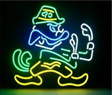 """Notre Dame Go Irish Neon Light Sign 24""""x20"""" Beer Bar Real Glass Lamp Poster"""