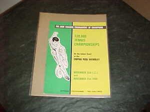 1968 Jack Kramer Tournament of Champions 20,000 Tennis Championships Program