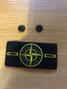 Stone Island badge and buttons Authentic
