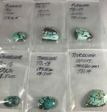 Turquoise 6 cabs assorted over 150 Cts.stunning spider web designs avg 15x20mm