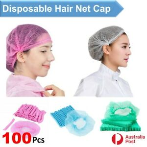 Disposable Hair Net Beauty Caps Non Woven Stretch Dust Head Cover Hats Upto 100x
