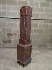 ~ ANTIQUE CARVED OAK NEWEL POST 42.5 TALL ~ ARCHITECTURAL SALVAGE ~