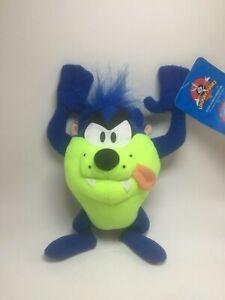 "Blue Tazmanian Devil Plush Toy Factory Looney Tunes 10"" Tall NWT Very Rare"