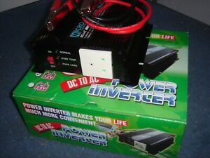 Brand New 600w to 1500w surge 12vdc to 230vac Power Inverter for campervans