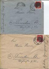 AP 827 I jamais comme EF sur 2 lettres Johanngeorgenstadt après Dresde besoins (b06772)
