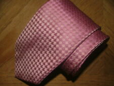 MENS SANTORELLI TIE HAND MADE IN ITALY 100% SILK PINK GEOMETRIC #055