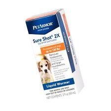 PETARMOR Sure Shot 2X (pyrantel pamoate) Liquid De-wormer Dogs, 2 Fluid Ounces