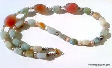 Gemstone Agate Beaded Costume Necklaces & Pendants