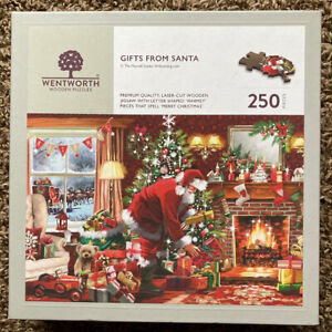 WENTWORTH WOODEN JIGSAW PUZZLE - GIFTS FROM SANTA - 250 PIECES