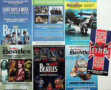 7 FLYERS THE BEATLES EIGHT DAYS A WEEK FILM - BOOTLEG BEATLES LET IT BE THEATRE