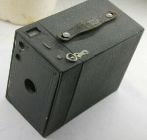 Kodak 2A Brownie Model B Film Wood Box Camera Working Shutter Lens VINTAGE J19B