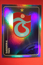 PANINI CHAMPIONS LEAGUE 2011/12 N 124 BADGE TRABZONSPOR WITH BLACK BACK MINT!!
