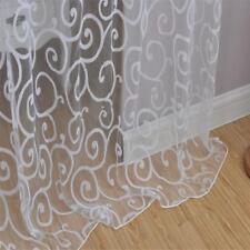 2pcs Rideau de Fenêtre Impression Transparent pour Fenêtre Anti-Soleil 150x250cm