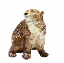 Vintage Marioni Ceramic Brown Grizzley Bear Hand Painted Animal Figurine