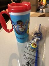 Disney Parks Pixar Fest Incredibles Wall-E Coco Coffee Travel Mug & Luxo Straw
