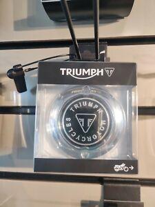 Genuine Triumph A9610255 - Clutch Badge, Chrome
