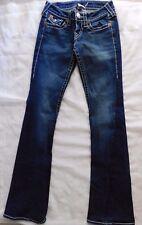 True Religion Dark Wash Joey Big T Stretch Twisted Seam Boot Cut Jeans - 25