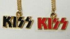 KISS RED AND BLACK LOGO NECKLACE SET OF 2