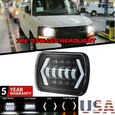 "For Chevy Express Cargo Van 1500 2500 3500 7x6"" 55W LED Headlight Hi-Lo Halo DRL"