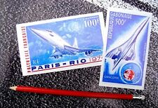 CONCORDE STAMP Stickers With Stamp edging 2 size Aviation Aeroplane Supersonic 2