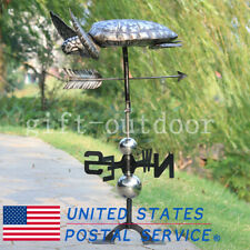 Handmade Home Antique Collection 3D Sea Turtle Weathervane Stainless Steel Decor