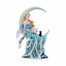 More details for nene thomas wind moon blue crescent moon fairy and cat companion figurine 28.5cm
