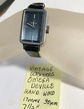 "Vintage Omega DeVille Womens Hand Wind Watch Running 17mm X 30mm 7 1/2"""