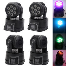 2X100W RGBW 7 LED 4-in-1 Moving Head Light DMX-512 DJ Disco Stage Party Lighting
