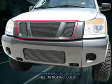 Fits 08-15 Nissan Titan Bolt-On  Billet Grille Grill Upper Insert Fedar