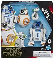 "STAR WARS GALAXY OF ADVENTURES - R2-D2, BB-8, D-0 DROID 3-PACK 5"" / HASBRO"