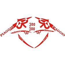 SET 8 ADESIVI ROSSO PIAGGIO BEVERLY 300 IE '10 KIT GRAFICA CARENA DECALS 70X70CM