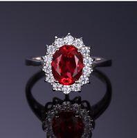 Wunderschöner Rubin Ring  925er echt Silber