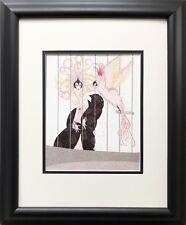 """Erte """"The Bird Cage""""  Newly CUSTOM FRAMED Print Art Deco Design Erte'"""