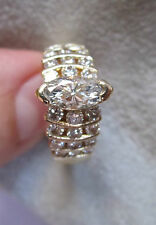 VINTAGE MARQUISE DIAMOND RING 14 KT GOLD W/APPRAISAL