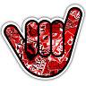no worries red hand sticker decal 95 x 80mm ratlook vw dub: mr oilcan