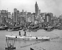 Historical Photograph of the Steamship Bunker Hill 1908 New York  8x10
