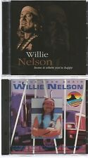 WILLIE NELSON on the road again + home is where you're happy 2 CD's IMPORT 1993