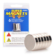 6er Set Supermagnete 12 x 3 mm, Neodym Magnet, 6 Neodymium Magnete